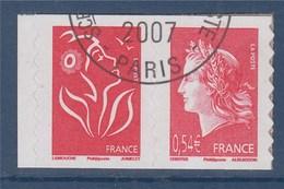 =Marianne De Cheffer Et Marianne De Lamouche Issus Du Carnet Autocollant P139 (139 Et 49b) Oblitérés ( Ex 3744b Et 4109) - Adhesive Stamps