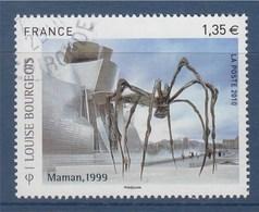 = Louise Bourgeois, Sculptrice D'Origine Française, Naturalisée Américaine N°4492 Oblitéré, Maman (Araignée Géante) 1999 - France