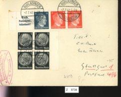 Deutsches Reich, Brief Aus Gebrauchspost Mit Zusammendruck: W 153 - Zusammendrucke