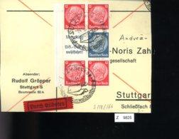 Deutsches Reich, Briefstück Aus Gebrauchspost Mit Zusammendruck: S 158, S 166 - Zusammendrucke