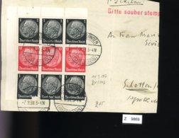 Deutsches Reich, Briefstück Aus Gebrauchspost Mit Zusammendruck: S 148 - Zusammendrucke