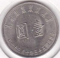 Chine Taiwan. 1 Yuan 1966 (Yr 55) 80ème Anniversaire De Chiang Kai-Shek. Y# 543 - China