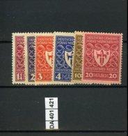 Deutsches Reich, Xx, 199 - 204 - Unused Stamps