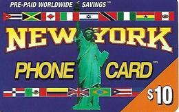 U.S.A.  PREPAID CARD-PTI -NEW YORK PHONE CARD - Altri