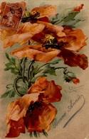 CPA Fleurs - Bonne Année - Flowers