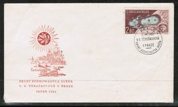 CZECHOSLOVAKIA   SCOTT # C 58 ON FIRST DAY COVER (FDC)  (JUNE 26 1963)) (OS-469) - FDC