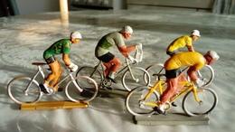 TOUR DE FRANCE D'AUTREFOIS ANCIENNES FIGURINES STARLUX DE CYCLISTES 1950 - Starlux