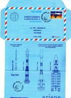 Aérogramme - Tir Ariane 5 / ESPACE  (04/06/1996) - Tirage Limité - - Storia Postale