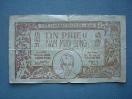BILLET VIETNAM - DAN CHU CONG HOA -TIN PHIEU - 50 DONGS - Vietnam