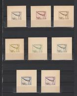 ++ 1936 Olympic Games 3+2 Pf Nominal In Different Colour Thick Paper Colour Proof - Allemagne