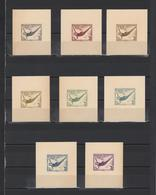 ++ 1936 Olympic Games 4+3 Pf Nominal In Different Colour Thick Paper Colour Proof - Allemagne