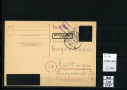 All. Bes., Ganzsachen, Notausgabe Mit Gebühr Bezahlt Stempel, Von Leidringen, 26.03.1946 - American,British And Russian Zone