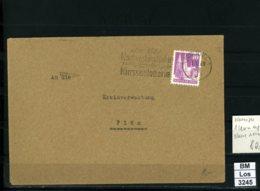 All. Bes., BiZone, Bauten 40 Pf.,  Auf Brief Vom 01.12.1948 8:00 Uhr, Erste Leerung Ohne Notopfer - Bizone