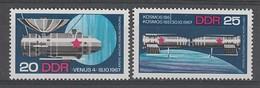 PAIRE NEUVE D'ALLEMAGNE ORIENTALE - SUCCES SOVIETIQUES DANS LE COSMOS N° Y&T 1040/1041 - Spazio