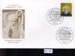 Bund, FDC. 12 Lose U.a. 1980, Mi.-Nr. 1037-38 - FDC: Covers