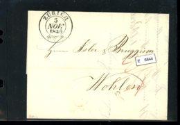 Schweiz Vorphilatelie, Brief Nach Wohlen (Aargau), Aus Zürich, 1840 - ...-1845 Vorphilatelie