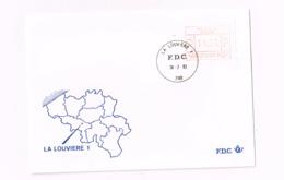 Vignette D'affranchissement.10 Francs.La Louvière 1 - FDC