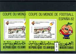 Motiv, 7 Lose U.a. Fußball WM 1982, Mauretanien Block 37 - Soccer