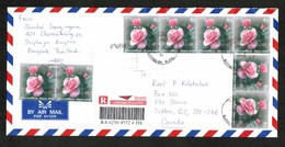 THAILAND   Scott # 1575,1692(2) And 2114(8) On REGISTERED AIRMAIL COVER To CANADA (OS-475) - Thailand