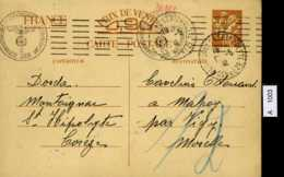 Frankreich, Postkarte Mit Zensurstempel, 1941 - Frankreich