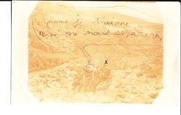 Quatre Militaires Dans La Montagne. De Henri à M. Et Mme Terrancle Employé Au Chemin De Fer La Magdelaine Sur Tarn. 1913 - Fotografia