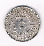 5 MILLIEMES  1924 EGYPTE /5397/ - Egypte