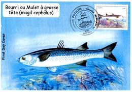 DZ Argelia FDC 1733 Pescado Salmonete Con Cabeza Grande Fauna Marina Pescado Animales - Peces