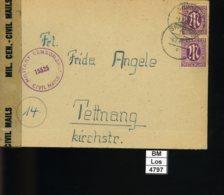 All. Besetzung, BiZone, 1946, AM Post 2 X 7 Und Zensurstempel - Zone Anglo-Américaine