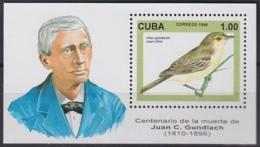 1996.3 CUBA MNH 1996 Ed.4074. HF JUAN GUNDLACH AVES ENDEMICAS BIRDS PAJAROS. - Cuba