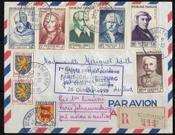 Lettre Recommandée France -Johannesburg Avec Cachet Première Liaison Postale Aérienne Par Avion à Réaction  TBE - Francia