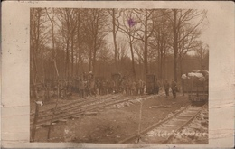 ! Argonnen, 1. Weltkrieg, Seltenes Foto, Feldbahn, Bahnhof, 1916, Photo, Guerre, Frankreich - Guerra 1914-18