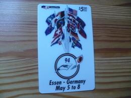 Prepaid Phonecard USA, Amerivox - First International Phonecard Fair Essen Germany - Stati Uniti