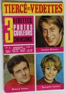 Livret Années 70 Tiercé Des Vedettes Jacques Dutronc Richard Antony Georgette Lemaire 3 Photos Couleurs - Objets Dérivés