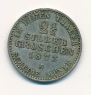 PREUSSEN  -  1873 A  WILHELM , 2½ SILBER GROSCHEN - 2, 3 & 5 Mark Silber