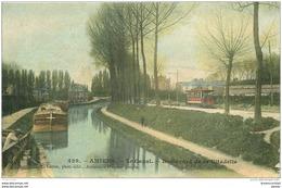 80 AMIENS. Péniche Sur Le Canal Boulevard De La Citadelle 1904 - Amiens
