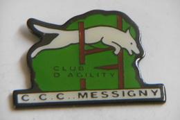 """Pin's - Animaux CHIEN Agility """"C.C.C MESSIGNY"""" Centre De Connaissance Canines De MESSIGNY ET VANTOUX 21 CÔTE-D'OR - Animals"""
