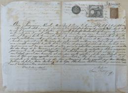 E6337 CUBA SPAIN. 1890. DOC INGENIO DE AZUCAR SANTA TERESA SUGAR MILLS SAGUA LA GRANDE. 31,5x42,5 Cm. - Historical Documents