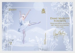 Jersey 2019 - Dame Margot Fonteyn - 100th Birth Anniversary Sheet Mnh - Jersey