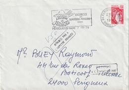 """Lettre De """"Périgueux Gare"""" (Dordogne, 24) Du 07-11-1978 Pour Périgueux (Dordogne, 24) En """"NPAI"""" Et """"Retour à L'envoyeur"""" - Oblitérations Mécaniques (flammes)"""