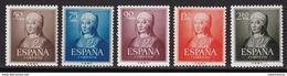 ESPAÑA 1951 - Isabel La Catolica Serie Nueva Sin Fijasellos Edifil Nº 1092/1096 -MNH- - 1951-60 Nuevos & Fijasellos