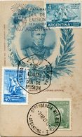 ALMIRANTE GUILLERMO BROWN, POSTAL CIRCA 1880 OBLITERES ARGENTINA DIA DE EMISION 1943, 1957, 1963, FDC -LILHU - Celebridades