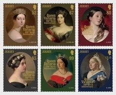 Jersey 2019 - Queen Victoria 200th Birth Anniversary Stamp Set Mnh - Jersey