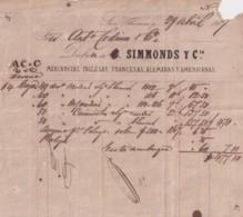 E6355 SAINT THOMAS 1867 OLD INVOICE MERCANCIAS INGLESAS Y FRANCESAS. - Historical Documents