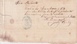 E6356 CUBA SPAIN 1893 RECIBO DE PAN PARA EL LAZARETO DE COLON, MATANZAS. - Historical Documents