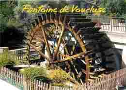 84 - Fontaine De Vaucluse - Moulin à Papier Vallis Clausa - La Roue à Aubes - Voir Scans Recto-Verso - France