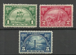 USA 1924 Michel 290 - 292 * Ships Schiffe Etc - Vereinigte Staaten
