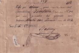 E6360 CUBA SPAIN 1863 VALE DE PAGO 5$ DEL CENTRAL ARRATIA SUGAR MILLS - Historical Documents