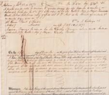 E6362 CUBA SPAIN 1873 CARTA DE PAGO DE DARTHES BANK LETTER UK REVENUE INLAND - Historical Documents
