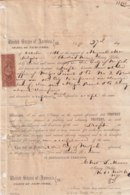 E6363 CUBA SPAIN 1866 NOTARIAL PROTEST DOC IN NEW YORK US REVENUE STAMPS. - Historical Documents
