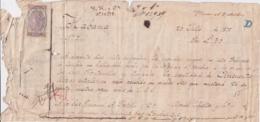 E6364 CUBA SPAIN 1875 PAGARE EXPEDIDO EN LA HABANA A LONDRES UK REVENUE INLAND - Historical Documents